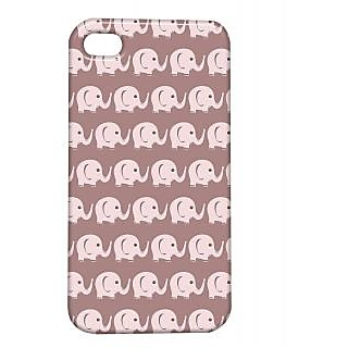 Pickpattern Back Cover For Apple Iphone 4/4S ELEPHANTBROWNI4-907