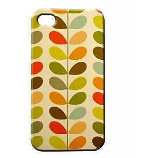 Pickpattern Back Cover For Apple Iphone 4/4S MULTICOLORLEAFI4-488