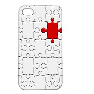 Pickpattern Back Cover For Apple Iphone 4/4S ONEREDPUZZLEI4-539