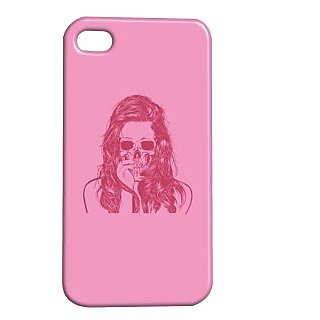 Pickpattern Back Cover For Apple Iphone 4/4S PINKDEVILI4-583