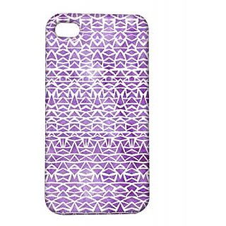 Pickpattern Back Cover For Apple Iphone 4/4S SHINNYVIOLETI4-683