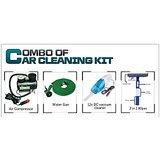 Combo Of Wash SprayGun, Air Compressor 250PSI, Car Duster, Formula 1 Wax Polish, 3 In 1 Wiper, F1 Dashboard Wax Polish Spray + Gloves + Polish + Vacuum Cleaner