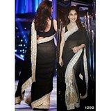 Indian bollywood designer Madhuri Black Berry saree