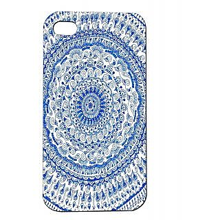Pickpattern Back Cover For Apple Iphone 4/4S BLUECIRCLEI4-84