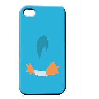 Pickpattern Back Cover For Apple Iphone 4/4S BLUEDUCKI4-88