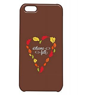 Pickpattern Back Cover For Apple Iphone 5C BROWNHEARTI5C-1680