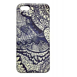 Pickpattern Back Cover For Apple Iphone 5/5S DARKBLUELEAFI5-1517