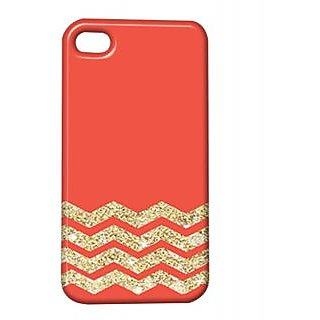 Pickpattern Back Cover For Apple Iphone 4/4S GOLDENORANGEI4-305