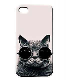 Pickpattern Back Cover For Apple Iphone 4/4S NAUGHTYCATI4-525