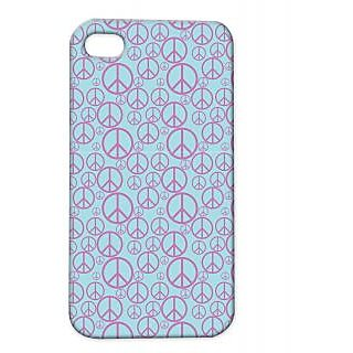 Pickpattern Back Cover For Apple Iphone 4/4S PURPLEPIECEI4-1088