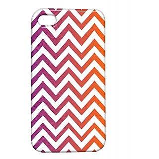 Pickpattern Back Cover For Apple Iphone 4/4S BRIGHTPURPLEI4-110