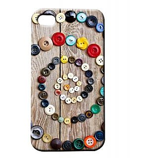 Pickpattern Back Cover For Apple Iphone 4/4S CIRCULARBUTTONI4-158