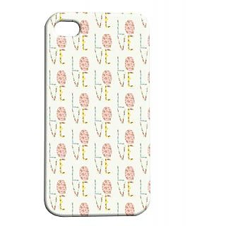 Pickpattern Back Cover For Apple Iphone 4/4S ICECREAMLOVEI4-367