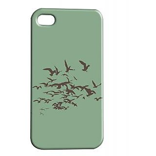 Pickpattern Back Cover For Apple Iphone 4/4S MINIMALBIRDI4-464