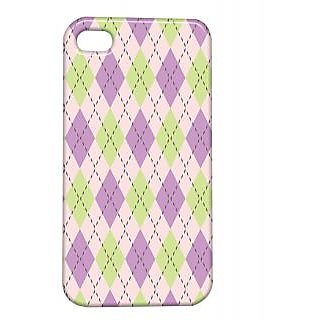 Pickpattern Back Cover For Apple Iphone 4/4S PURPLEPATTERNI4-992