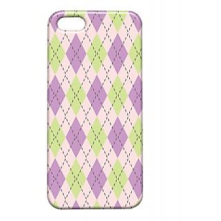 Pickpattern Back Cover For Apple Iphone 5/5S PURPLEPATTERNI5-1344