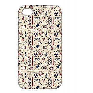 Pickpattern Back Cover For Apple Iphone 4/4S UMBRELLAI4-1029