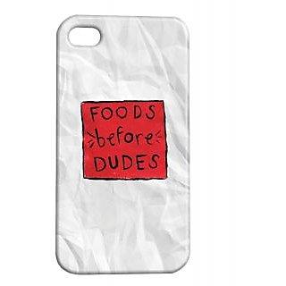 Pickpattern Back Cover For Apple Iphone 4/4S FOODSBEFOREDUDESI4-1113
