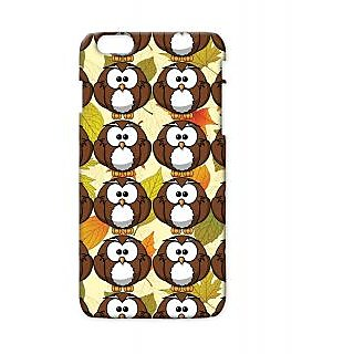 Pickpattern Back Cover For Apple Iphone 6 Plus BROWNYOWLSI6PLUS-4003
