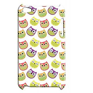 Pickpattern Back Cover For Apple Ipod Touch 4 CUTEOWLIT4-4867