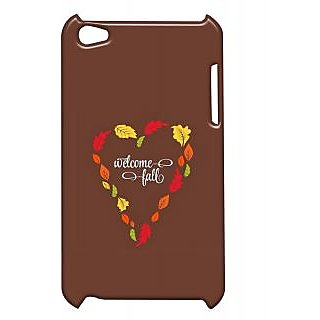 Pickpattern Back Cover For Apple Ipod Touch 4 BROWNHEARTIT4-4796
