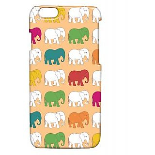 Pickpattern Back Cover For Apple Iphone 6 COLOURFULELEPHANTSI6-3227