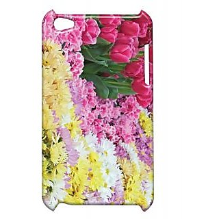 Pickpattern Back Cover For Apple Ipod Touch 4 FLOWERGARDENIT4-4486