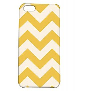 Pickpattern Back Cover For Apple Iphone 5C WHITE&YELLOWZIGZAGI5C-2756