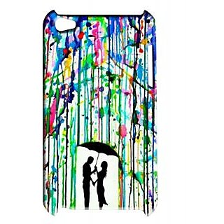 Pickpattern Back Cover For Apple Ipod Touch 4 COLORRAINIT4-4843