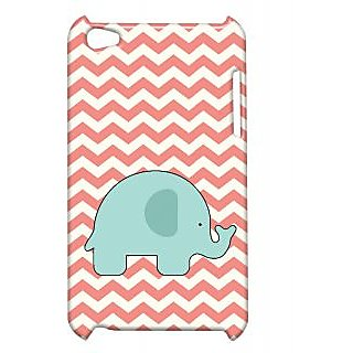 Pickpattern Back Cover For Apple Ipod Touch 4 ELEPHANTCORALIT4-4542