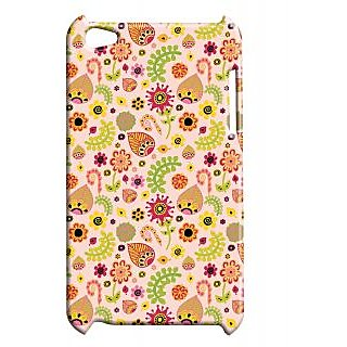 Pickpattern Back Cover For Apple Ipod Touch 4 LEAFYETHNICIT4-4406