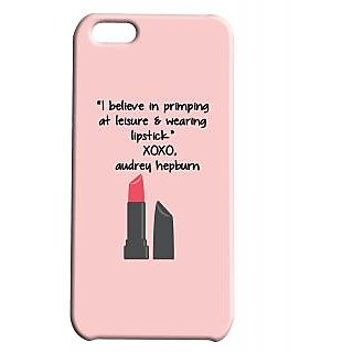 Pickpattern Back Cover For Apple Iphone 5C LEISURELIPSTICKI5C-2616