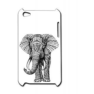 Pickpattern Back Cover For Apple Ipod Touch 4 ELEPHANTIT4-4915