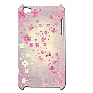 Pickpattern Back Cover For Apple Ipod Touch 4 FABRICFLOWERSIT4-4925
