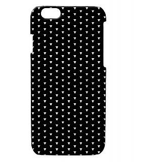 Pickpattern Back Cover For Apple Iphone 6 BLACKSHINYI6-2826