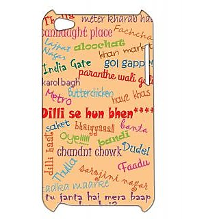Pickpattern Back Cover For Apple Ipod Touch 4 DILLITYPOGRAPHYIT4-4896