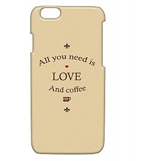 Pickpattern Back Cover For Apple Iphone 6 LOVEANDCOFFEEI6-3282