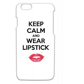 Pickpattern Back Cover For Apple Iphone 6 WEARLIPSTICKI6-3371