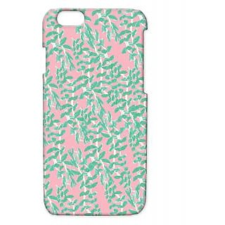 Pickpattern Back Cover For Apple Iphone 6 LEAFONPINKI6-3406