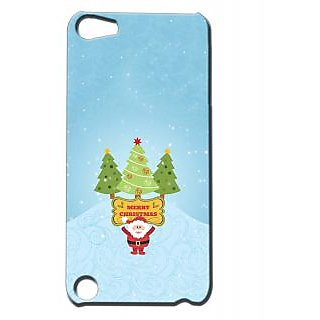 Pickpattern Back Cover For Apple Ipod Touch 5 MERRYCHRISTMASIT5-5653