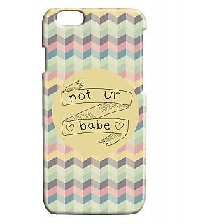 Pickpattern Back Cover For Apple Iphone 6 NOTURBABEI6-3443