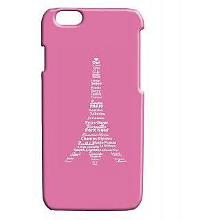 Pickpattern Back Cover For Apple Iphone 6 PINKTYPOPARISI6-3383