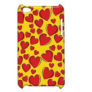 Pickpattern Back Cover For Apple Ipod Touch 4 REDHEARTSDRAWINGSIT4-5305