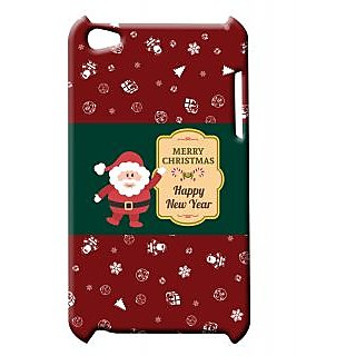 Pickpattern Back Cover For Apple Ipod Touch 4 SANTAIT4-4685