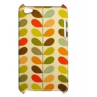 Pickpattern Back Cover For Apple Ipod Touch 4 MULTICOLORLEAFIT4-5157