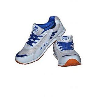 port pu rhino white running shoes