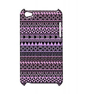 Pickpattern Back Cover For Apple Ipod Touch 4 DARKVOILETIT4-4886