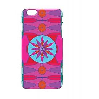 Pickpattern Back Cover For Apple Iphone 6 Plus PINKISHBLACKI6PLUS-3799
