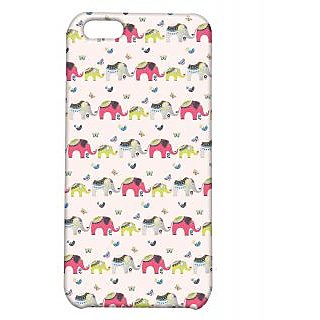 Pickpattern Back Cover For Apple Iphone 5C ELEPHANTPRINTI5C-2483