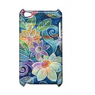 Pickpattern Back Cover For Apple Ipod Touch 4 FLOWERVASEIT4-4948